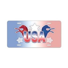 USA Horses Aluminum License Plate