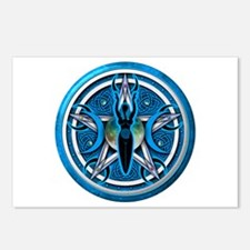 Pentacle of the Blue Goddess Postcards (Package of