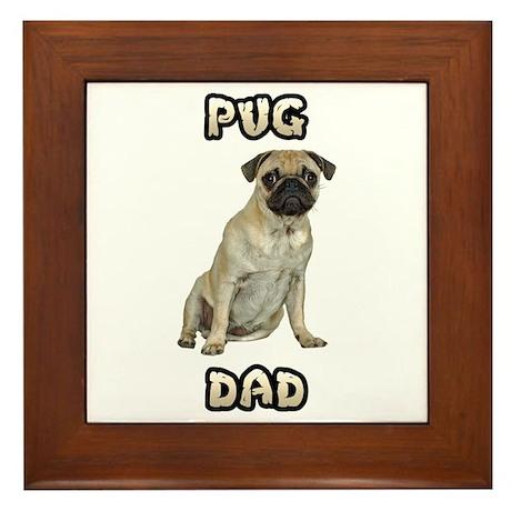 Pug Dad Framed Tile