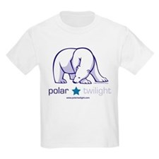 White PolarTwilight logo Kids T-Shirt