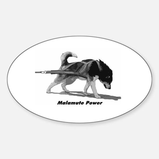 Malamute Power Sticker (Oval)