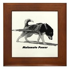 Malamute Power Framed Tile