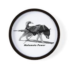 Malamute Power Wall Clock