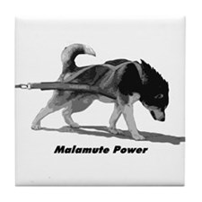 Malamute Power Tile Coaster