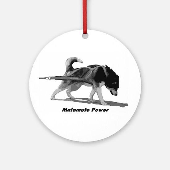 Malamute Power Ornament (Round)