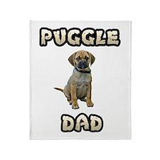 Puggle Dad Throw Blanket