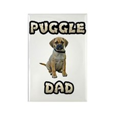 Puggle Dad Rectangle Magnet