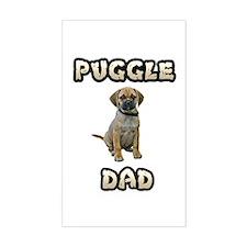 Puggle Dad Sticker (Rectangle)