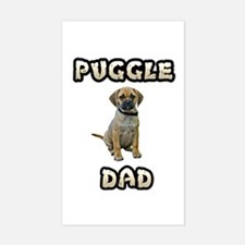 Puggle Dad Decal