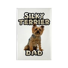 Silky Terrier Dad Rectangle Magnet