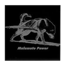Malamute Power Tile Coaster