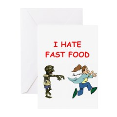 zombie tag Greeting Cards (Pk of 10)