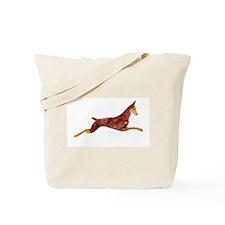 Leaping Red Doberman Tote Bag