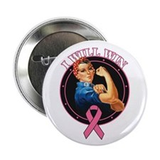 "BreastCancer IWillWin 2.25"" Button"
