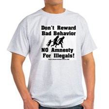 No Amnesty for Illegals Ash Grey T-Shirt