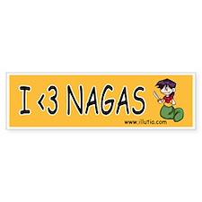 I <3 Nagas Bumper sticker