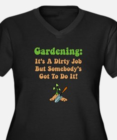 Gardening Women's Plus Size V-Neck Dark T-Shirt