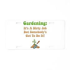 Gardening Aluminum License Plate