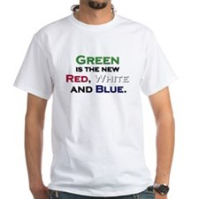 Green is the new Red, White a Shirt