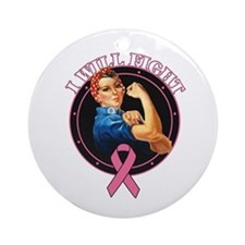 BreastCancer IWillFight Ornament (Round)