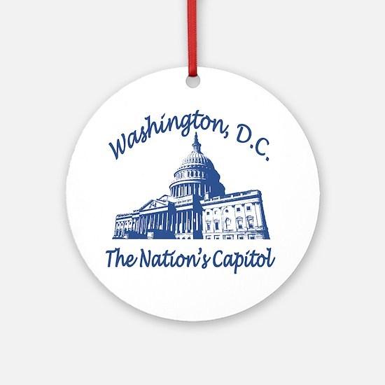 Washington DC Round Ornament