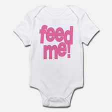 Feed Me pink Infant Bodysuit