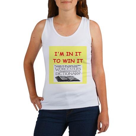 word game lover Women's Tank Top
