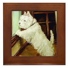 WAITING - West Highland White Framed Tile