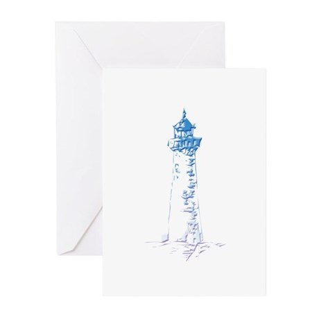 Blue Lighthouse Greeting Cards (Pk of 20)