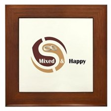 Cute Mixed marriages Framed Tile