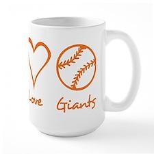 Peace, Love, Giants Mug