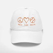 Peace, Love, Giants Baseball Baseball Cap