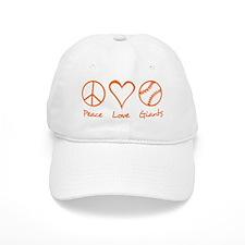 Peace, Love, Giants Baseball Cap