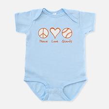 Peace, Love, Giants Infant Bodysuit