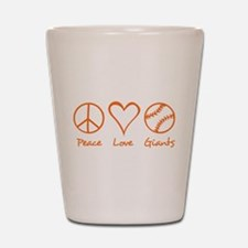 Peace, Love, Giants Shot Glass