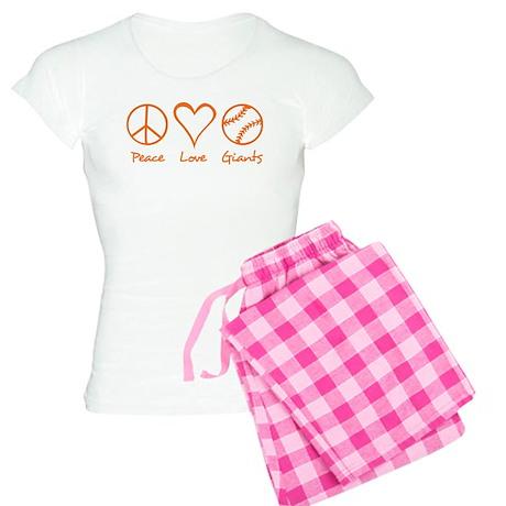 Peace, Love, Giants Women's Light Pajamas