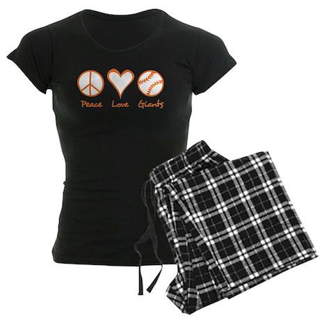 Peace, Love, Giants Women's Dark Pajamas