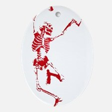 The Dancing Skeleton Oval Ornament