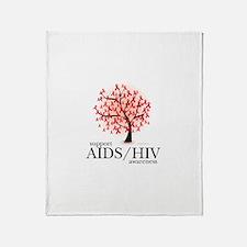 AIDS/HIV Tree Throw Blanket