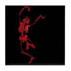The Dancing Skeleton Tile Coaster