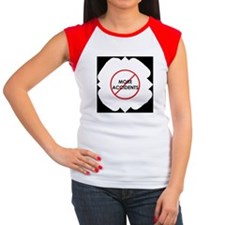 No more accidents! cap sleeve t-shirt