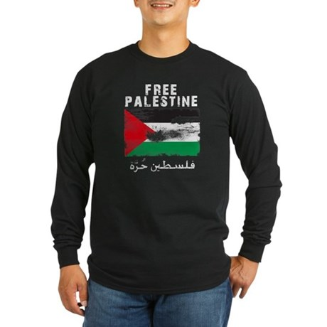 Free Palestine ( filistin hur Long Sleeve Dark T-S