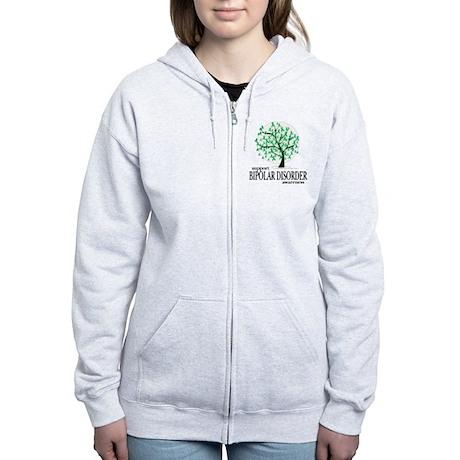 Bipolar Disorder Tree Women's Zip Hoodie