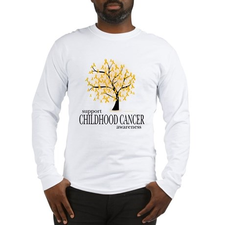 Childhood Cancer Tree Long Sleeve T-Shirt