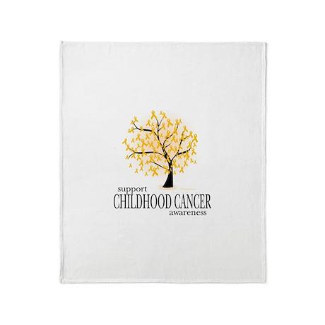 Childhood Cancer Tree Throw Blanket