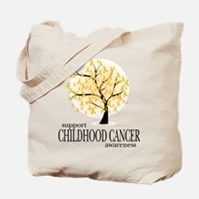 Childhood Cancer Tree Tote Bag