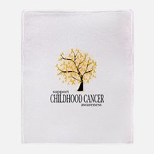 Childhood Cancer Tree Throw Blanket