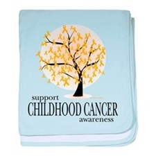 Childhood Cancer Tree baby blanket
