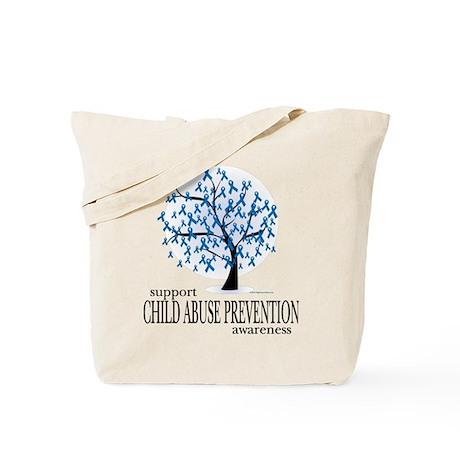Child Abuse Tree Tote Bag