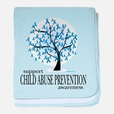 Child Abuse Tree baby blanket